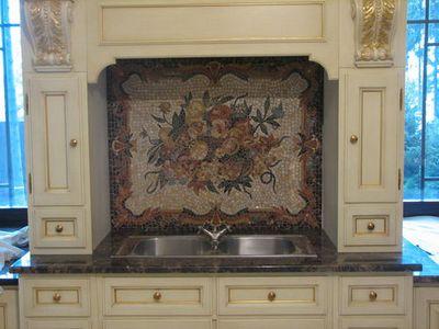 Мозаичная вставка в кухню